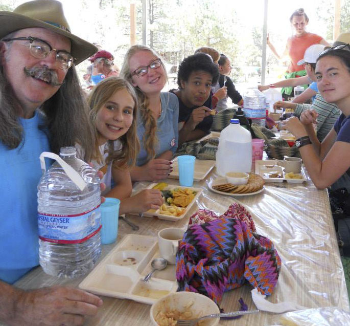 Photo by Beverley Weiler (2014). Lunch at Mountain Friends Camp, Santa Fe, New Mexico.