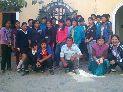 Students at the Student Residence in Sorata, Bolivia
