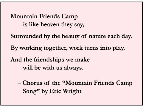 Mountain Friends Camp song