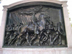 Augustus Saint-Gaudens memorial to Robert Gould Shaw, photo by the U.S. National Park Service