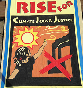 Poster - Rise for Climate, Jobs, & Justice