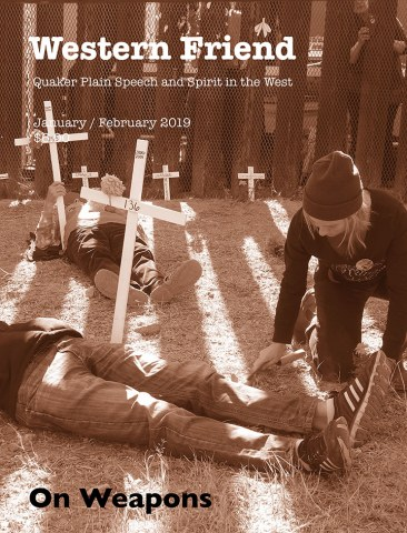 "Magazine cover with image of ""die-in"" protest"