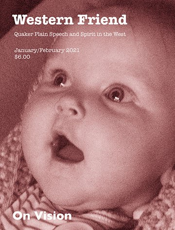 Image of magazine cover showing face of a baby