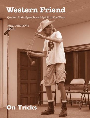 Image of magazine cover showing a man performing yo-yo tricks