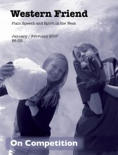 Magazine cover with image of two kids with snowballs
