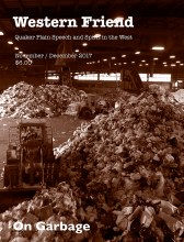 Magazine cover with image of a waste management center