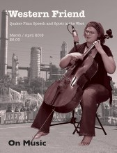 Magazine cover with image of a woman playing the cello