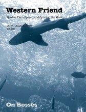 Magazine cover with image of swimming shark