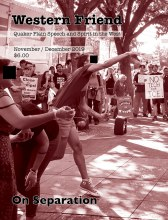 Magazine cover showing picture of pro-immigrant demonstration
